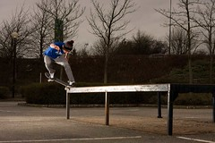 Paul Bs 180 Fakie Nosegrind (RobSalmon) Tags: uk two england robert june canon magazine regan paul photography photo shoes published with shot skateboarding bs united salmon kingdom rob 180 sidewalk fabric skater backside hull dslr skateboards issue skateboarder 177 flashes 2011 fakie dvs nosegrind 40d