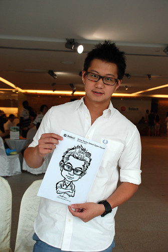 Caricature live sketching for Sime Darby Select Open House Day 1 - 20
