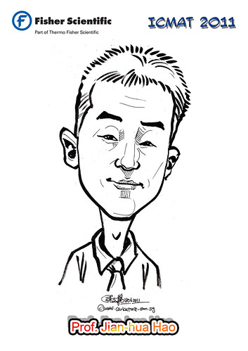 Caricature for Fisher Scientific - Prof. Jian-hua Hao