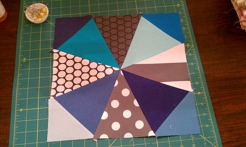 Test Block for Kaleidoscope quilt by bryanhousequilts