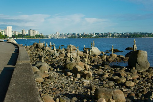 Rock Stacking, Stanley Park