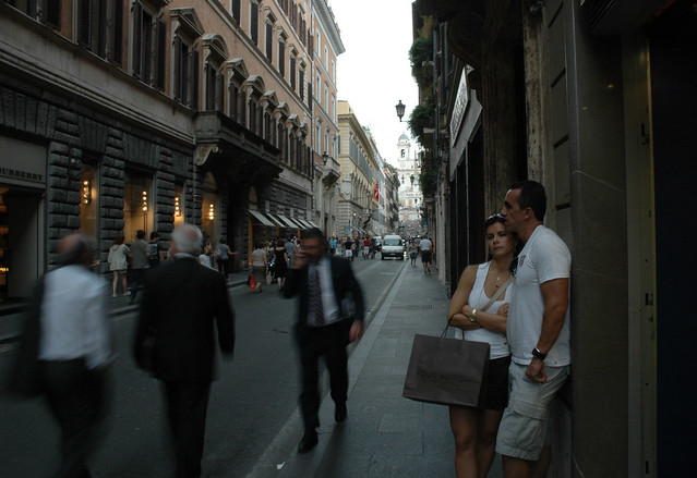 Via dei Condotti, looking towards the Spanish Steps