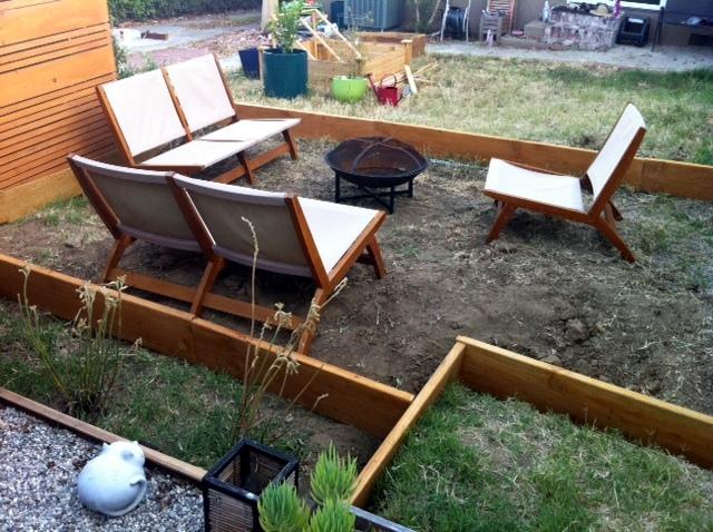 DG patio in progress
