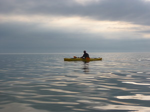Kayaking Along Lake Michigan