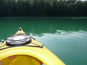 Kayaking in Michigan's Green Waters
