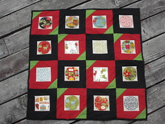 Finished Quilt for the Christmas Quilt-a-long