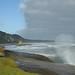 A pancadas das ondas resultam em geisers