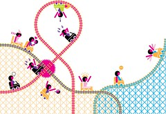 Hormoniolândia (Gabriel Gianordoli) Tags: woman illustration icon roller coaster vector infographic feelings hormones