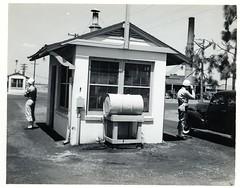 155 Front Gate at Tyndall Field, Florida WWII (rich701) Tags: city bw vintage army war florida wwii worldwarii ww2 airforce graflex speedgraphic tyndall aaf usaaf floridamemory fieldpanama