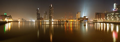 Rijnhaven Rotterdam - Panorama (DolliaSH) Tags: city longexposure light urban haven holland color water colors architecture night canon reflections river photography lights noche photo rotterdam europe foto nightshot photos nacht harbour nederland thenetherlands illuminated le maas nuit notte stad noch zuidholland southholland 50d nachtopname manhattanaandemaas visitholland canonefs1755mmf28isusm canoneos50d dollias dolliash dolliasheombar anmazingnetherlands