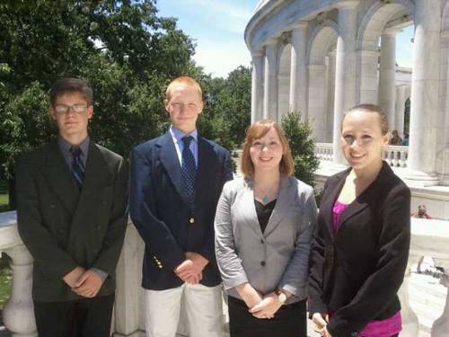 NSLC National Security Students Lay Wreath at Arlington