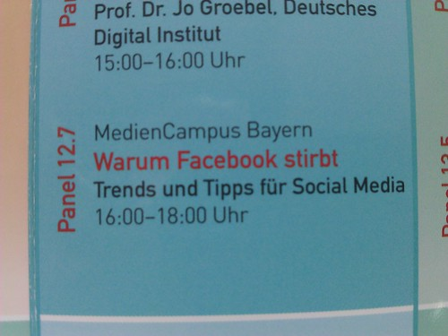 Facebook stirbt - Medientage Panel