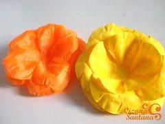 forminha para doce em tricoline lisa | em fase de teste (Cizana) Tags: flor rosa casamento buffet festa tecido colorido chitão tricoline forminha docinhhos