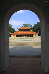 Hanh Cung palace in the Son Tay ancient citadel, Vietnam (-clicking-) Tags: architecture rural landscape gate citadel traditional vietnam frame tradition hanoi ancientcitadel vietnamesetradition vietnameselandscape thànhcổsơntây