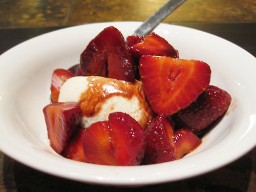 strawberries with balsamic fig vineger