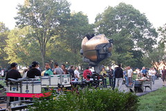 Sphere in Battery Park (koborin) Tags: park nyc newyorkcity travel ny newyork manhattan battery financialdistrict batterypark sphere lowermanhattan