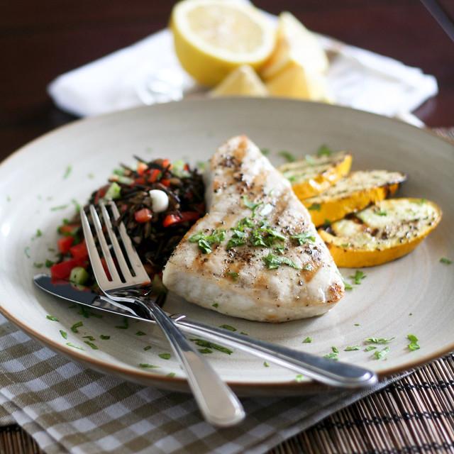 Grilled Blue Marlin Steak