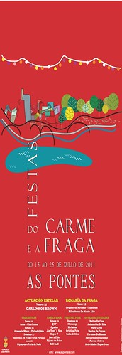 As Pontes 2011 - Festas do Carme e da Fraga - cartel