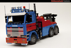 Scania 142 Wrecker (bricksonwheels) Tags: lego bro 142 v8 towtruck recovery scania lugnuts wrecker effer v8power lowlug eurobricks bricksonwheels