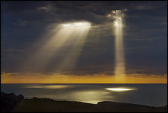 The Divine light (adrians_art) Tags: sky cloud reflections coast rays eastsussex lightbeams beachyhead horizons seawater