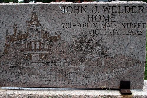 john j. welder home headstone