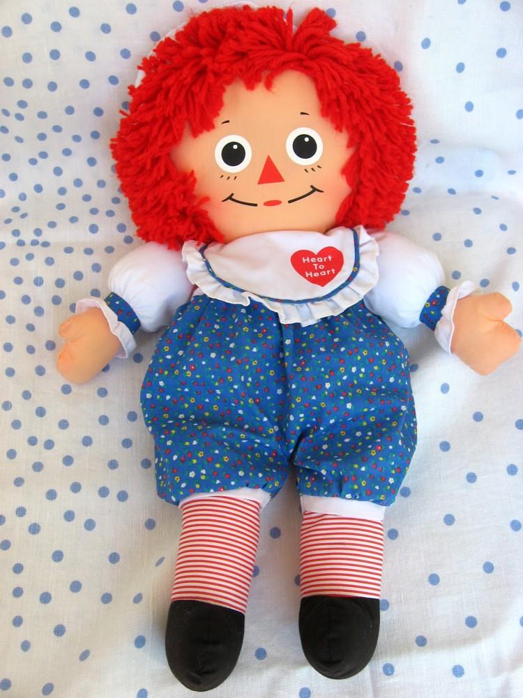 Playskool Raggedy Ann Heart to Heart Cloth Doll