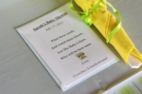 Seed packet favors
