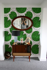 I am very proud of my wallpapering! (jimbotfuzz79) Tags: home vintage furniture retro marimekko showyourhouse