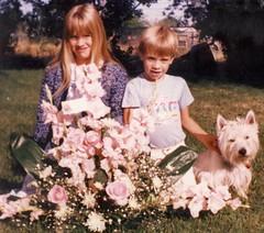 Baby Sister's Graveside Flowers