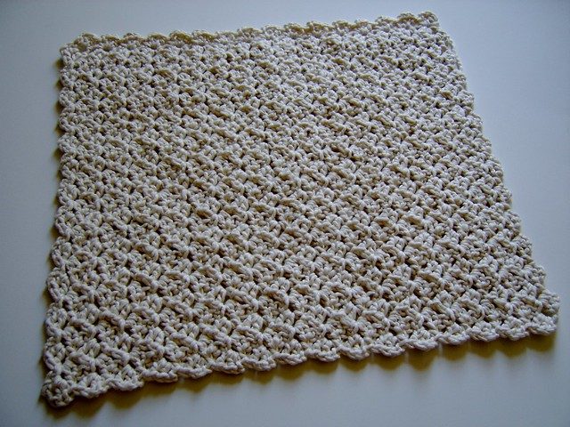 Crunchy Congo Knit Month<br>Cotton Crocheted Lovey Blanket