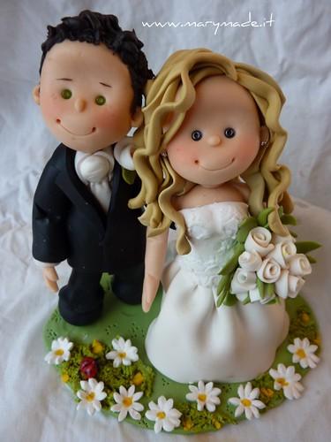 laura, cake topper per matrimonio