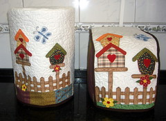 (Arte de Unir Retalhos) Tags: patchwork cozinha casinha tecido aplique patchcolagem capamáquinadepão