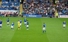 City Take The Field (joncandy) Tags: city wales season photo football image stadium soccer cymru cardiff picture pre caerdydd friendly celtic bluebird pldroed ccfc cardiffcity joncandy