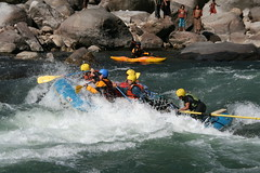 Wave trains on the Kameng river Adventure rafting and Kayaking trip