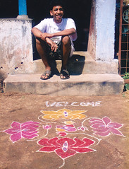 Welcoming (bokage) Tags: boy india decoration tamil tamilnadu kumbakonam