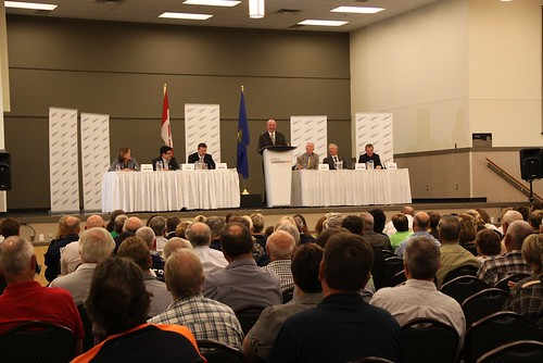 Alberta Progressive Conservative leadership forum July 21, 2011 in Vermilion.