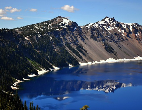 Crater lake from Rim village