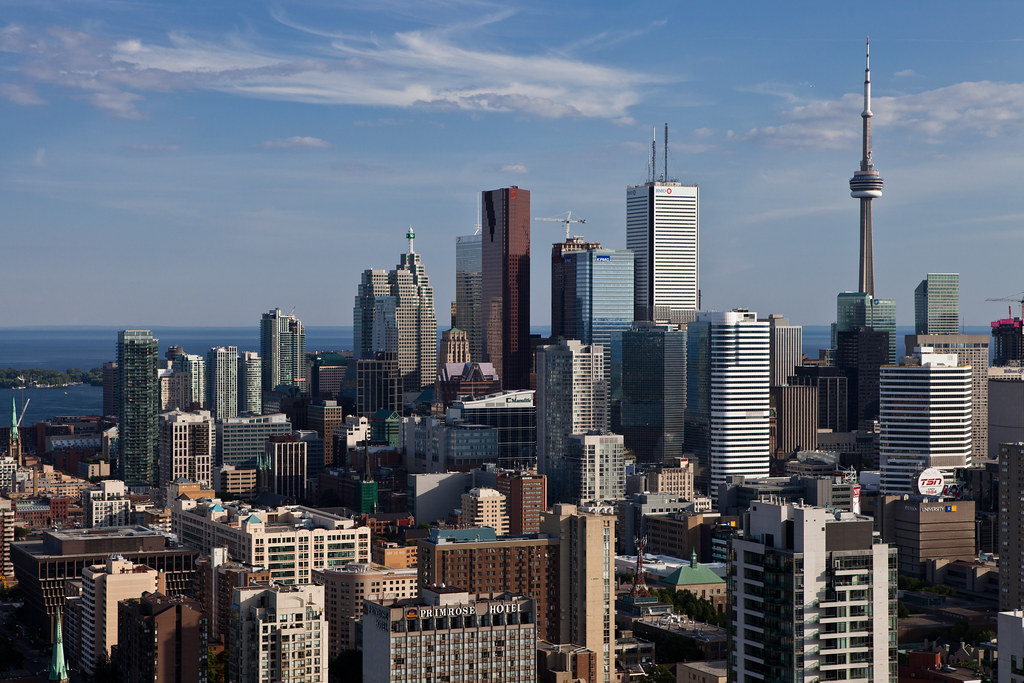 typical downtown toronto skyline view
