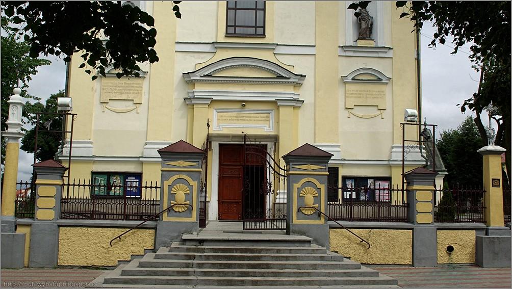Biłgoraj fronton kościoła pw. WNMP