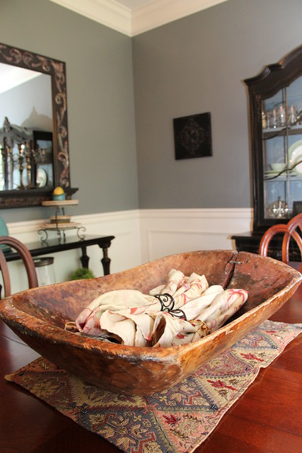 dough bowl in dining room