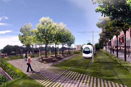 conceptual rendering, Atlanta BeltLine transit (by: ABI via Creative Loafing)