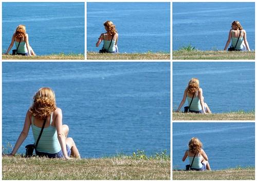 Una jovencita y el mar