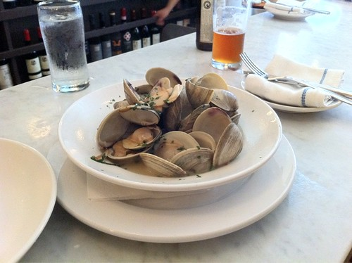 Wow. Neptune Oyster. One of the best meals this vacation. Steamers and a warm butter lobster roll.