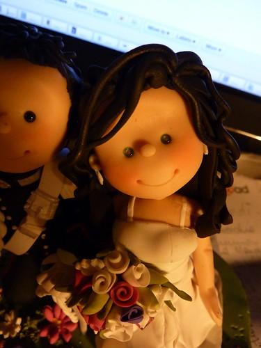 Cake Topper per matrimonio fatto a mano