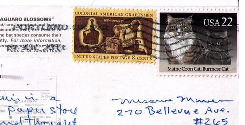 From Oregon USA, postmarked July 19, 2011