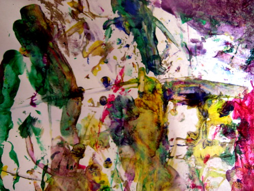cotton bud paintings