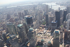 New York - Ground Zero (mr-mojo-risin) Tags: newyork groundzero air helicopter manhattan brooklyn bridge 911 usa nyc ground zero above bigapple worldtradecenter wtc world trade center fromabove fromair one construction aerial view memorial remember attack