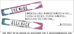 She Made, Ella Hace Banner- girlichef.com and lacocinadeleslie.com