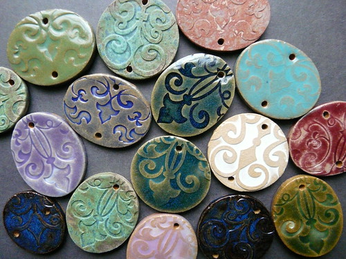 Stoneware Jewelry Components