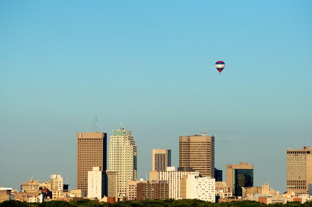 Downtown Winnipeg and Balloon